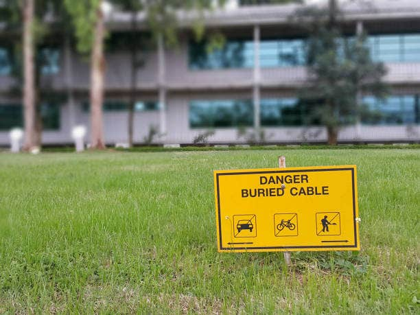 Direct Burial kabel waarschuwingsbord