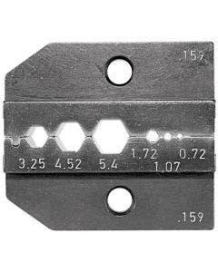 Inzetstuk tbv PEW12 tang HEX 0,72/1.07/1.72/3.25/4.52/5.41 Romal