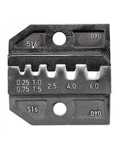 Inzetstuk voor adereindhulzen tbv PEW12 tang 0.25/0.75/1.0/1.5/2.5/4.0/6.0 Qmm Romal