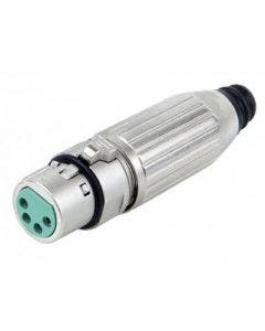 XLR connector female 4-polig Switchcraft AAA4FZ zilver