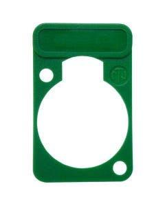 Chassisdeel kleurmarkering Neutrik DSS-5 groen