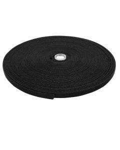Klittenband back to back (haak/velours) 12mm x 25m Romal zwart