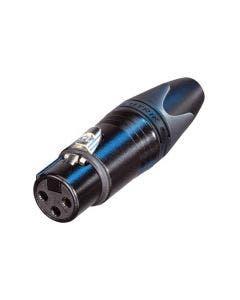 XLR connector female 3-polig Neutrik NC3FXX-BAG zwart