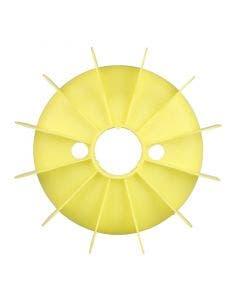 Kunststof waaier 171 mm Synflex BG 100 geel