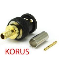 BNC connector korus 12GHz tbv 1855A/ENH/4855R Coax connectors 10-005-W126-FA zwart