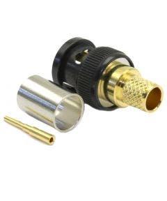 BNC connector Korus 12GHz tbv 1694A/1694F/4694R/4694F Coax connectors 10-005-W126-FC zwart