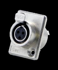 Tini (mini XLR) Q-G chassisdeel (f) 3 polig Switchcraft TY3F