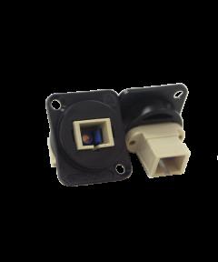 SC fiber optic multimode Switchcraft EHSC2M zwart
