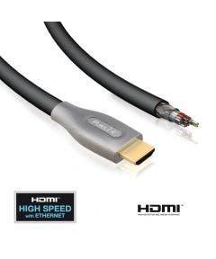 HDMI kabel PureID Serie Purespeed 1 zijde afgemon. - 10 meter Purelink ID-PS2000-10 zwart