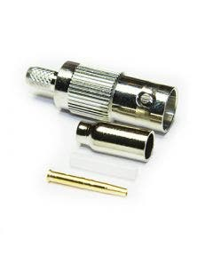 BNC krimpconnector female Coax connectors 10-055-A0-AD blank