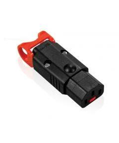 IEC Lock vergrendelbare rechte apparaten steker Iec lock C13 zwart