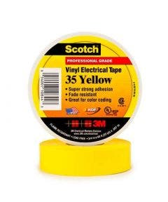 Scotchtape nr. 35 - 19 mm  - 20 meter 3m geel