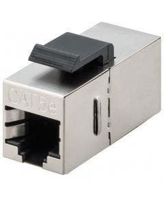 Keystone jack koppelstuk RJ45 Cat.5E afgeschermd Intellinet 512008 zilver