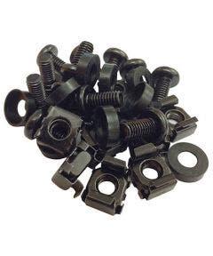 Kooimoeren en schroeven M6 zwart - 50 stuks Romal zwart