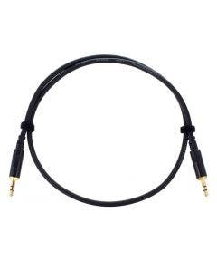 Patchkabel 3.5mm mini jack stereo male - 3.5mm mini jack stereo male - 0.90 meter Cordial CFS 0.9 WW zwart