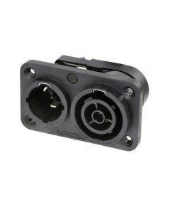 Powercon true1 chassisdeel male/female Neutrik NAC3PX-TOP