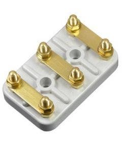 Motoraansluitblokje type B (M5). afm. 56 x 36 x 11 mm Romal wit