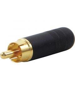 RCA connector goud Switchcraft 3502ABAU zwart