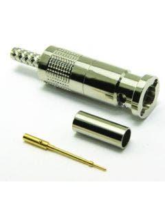 Micro BNC krimpconnector 67-005-B66-AB t.b.v. RG179 en 179DT Coax connectors 67-005-B66-AB