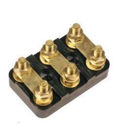 Motoraansluitblokje type TB03 (M4) met sleufgat Aev zwart
