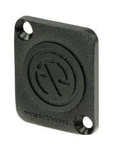 Blindplaat D-shape Neutrik DBA zwart