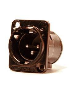 XLR chassisdeel (m) soldeer 3-polig Switchcraft E3MSCB zwart