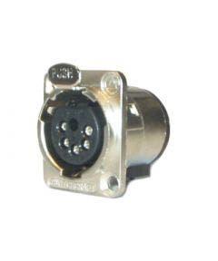 XLR chassisdeel (f) soldeer 5-polig Switchcraft E5FSC