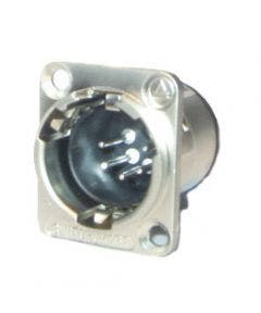 XLR chassisdeel (m) soldeer 5-polig Switchcraft E5MSC