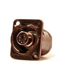 PS/2 chassisdeel Switchcraft EH6MD2BX zwart
