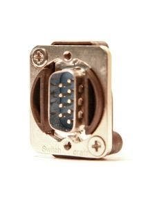 9 PIN SUBD chassisdeel male - male Switchcraft EHDB9MM