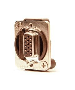 15 PIN HD VGA Chassisdeel male - female Switchcraft EHHD15MF