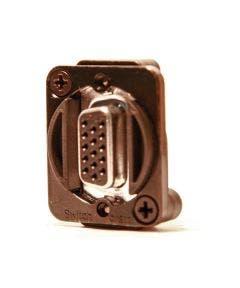 15 PIN HD VGA Chassisdeel (m-f) Switchcraft EHHD15MFB zwart