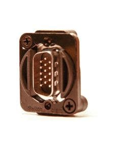 15 PIN HD VGA Chassisdeel (m-m) Switchcraft EHHD15MMB zwart