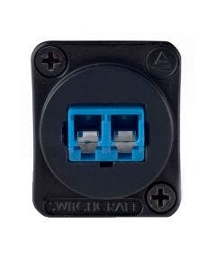 LC fiber optic singlemode Switchcraft EHLC2 zwart