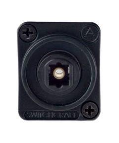 Toslink fiber optic chassisdeel Switchcraft EHTL2 zwart