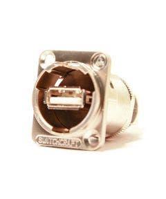 USB chassisdeel a/b Switchcraft EHUSBABX