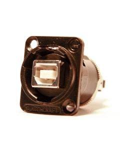USB chassisdeel b/a Switchcraft EHUSBBABX zwart