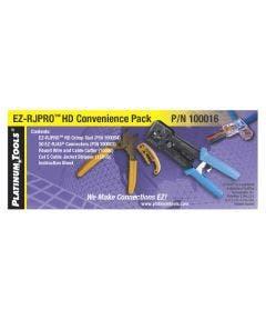 EZ-RJ HD pro termination kit (crimptool. tang. stripper + 50 RJ45 CAT. 5e connectoren) Platinum tools