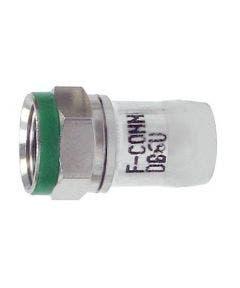 F compressie connector tbv RG6 H126DB+ Belden DB6U