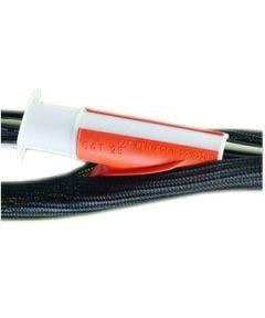 Polyesterkous openend 10 mm - 30.50 meter Alpha wire GRP 130 3/8 zwart