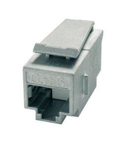 Keystone koppelstuk RJ45 Cat.6a AMJ Telegartner J00029A0061 zilver