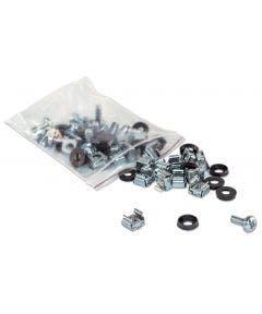 Kooimoeren en schroeven M6 - 50 stuks Intellinet 711081 zilver