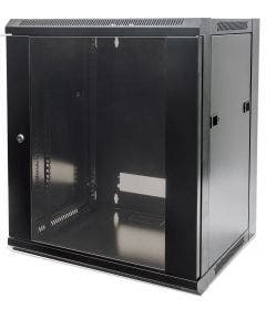 19 inch wandbehuizing 6HE 370x570x450mm Intellinet 711715 zwart