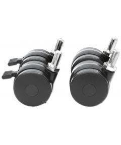 Zwenkwielen 250kg - 4 stuks (waarvan twee met rem) Intellinet 712163 zwart