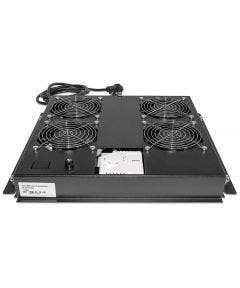 19 inch Dakventilator. 4 ventilatoren met thermostaat Intellinet 712866 zwart