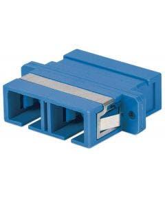 Glasvezelkoppelbus SC-SC singlemode duplex Intellinet 760638 blauw