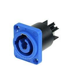 Powercon chassisdeel Neutrik NAC3MPA blauw
