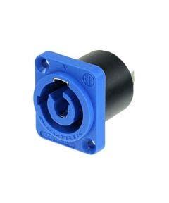 Powercon chassisdee Neutrik NAC3MPA1WOT blauw
