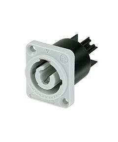 Powercon chassisdeel Neutrik NAC3MPB-1 grijs