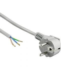 Netsnoer 3G0.75 qmm haaks/splices - 4 meter Romal grijs